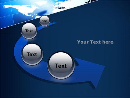 Deep Blue World Map PowerPoint Template Slide 6