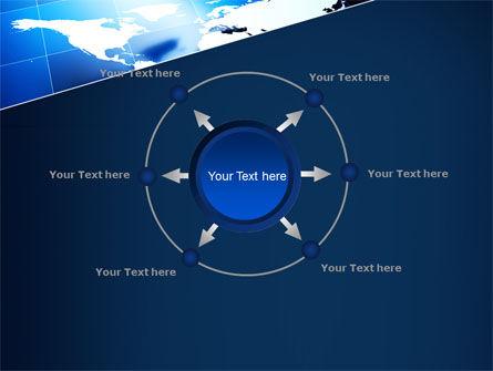Deep Blue World Map PowerPoint Template Slide 7