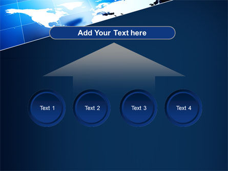 Deep Blue World Map PowerPoint Template Slide 8