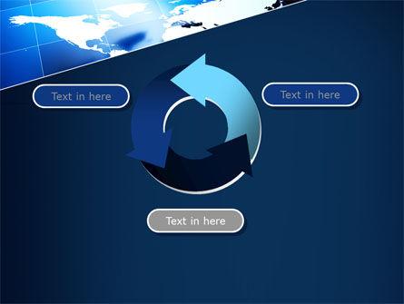 Deep Blue World Map PowerPoint Template Slide 9