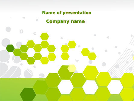 Yellow Cells PowerPoint Template