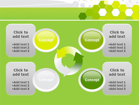 Yellow Cells PowerPoint Template Slide 9