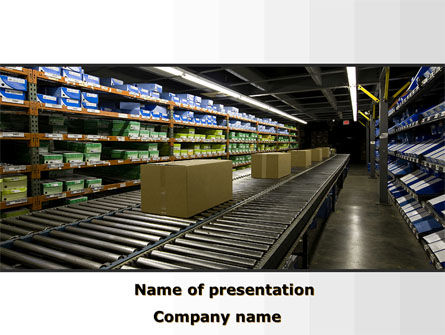 Automated Warehouse PowerPoint Template, 09048, Careers/Industry — PoweredTemplate.com