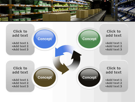 Automated Warehouse PowerPoint Template Slide 9