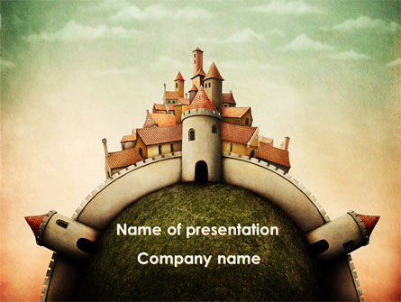 Education & Training: Fantasy Castle PowerPoint Template #09050