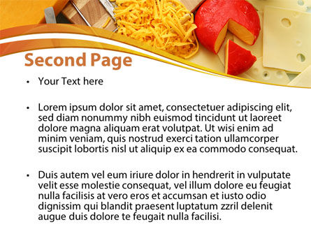 Hard Cheese And Milk PowerPoint Template, Slide 2, 09051, Food & Beverage — PoweredTemplate.com