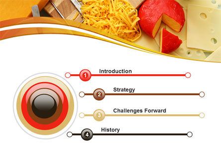 Hard Cheese And Milk PowerPoint Template, Slide 3, 09051, Food & Beverage — PoweredTemplate.com