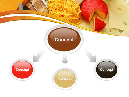 Hard Cheese And Milk PowerPoint Template, Slide 4, 09051, Food & Beverage — PoweredTemplate.com