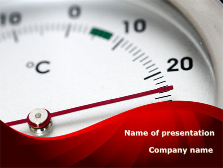 Right Business Temperature PowerPoint Template, 09053, Utilities/Industrial — PoweredTemplate.com
