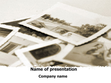 Vintage Photo PowerPoint Template, 09056, People — PoweredTemplate.com