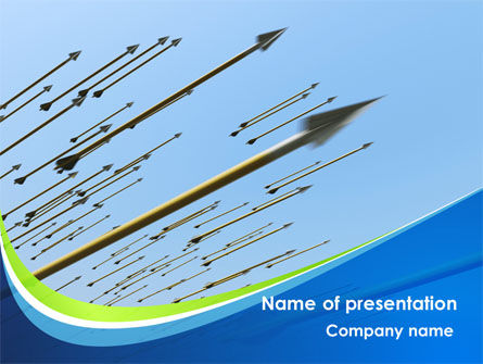 Business: Flying Arrows PowerPoint Template #09057