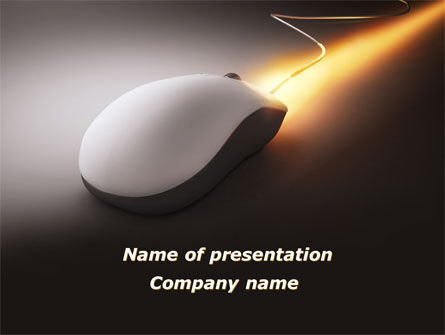 Computers: Computer Mouse Jet PowerPoint Template #09058