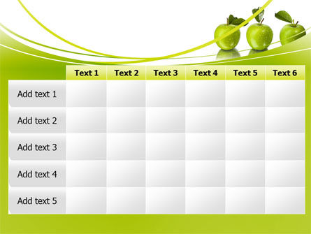 Green Apples PowerPoint Template Slide 15