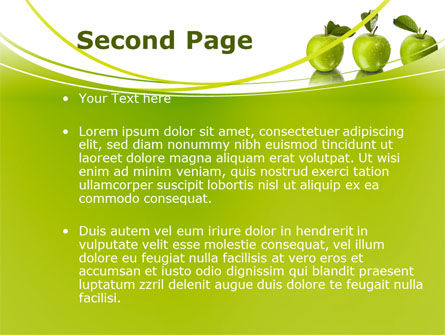 Green Apples PowerPoint Template, Slide 2, 09060, Agriculture — PoweredTemplate.com
