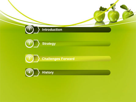 Green Apples PowerPoint Template, Slide 3, 09060, Agriculture — PoweredTemplate.com
