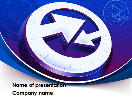 Opposite Course PowerPoint Template, 09061, Business Concepts — PoweredTemplate.com