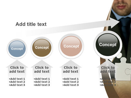 Puzzle Assembled PowerPoint Template Slide 13