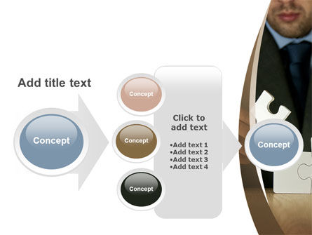 Puzzle Assembled PowerPoint Template Slide 17