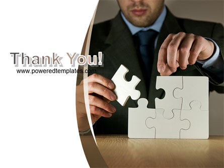 Puzzle Assembled PowerPoint Template Slide 20