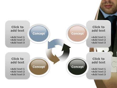 Puzzle Assembled PowerPoint Template Slide 9