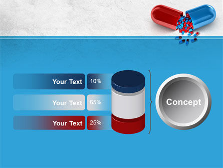 Red And Blue Pilule PowerPoint Template Slide 11