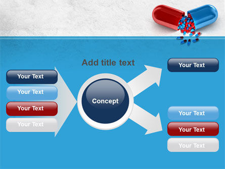 Red And Blue Pilule PowerPoint Template Slide 14