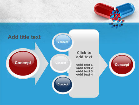 Red And Blue Pilule PowerPoint Template Slide 17