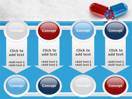 Red And Blue Pilule PowerPoint Template Slide 18