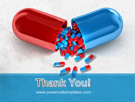 Red And Blue Pilule PowerPoint Template Slide 20
