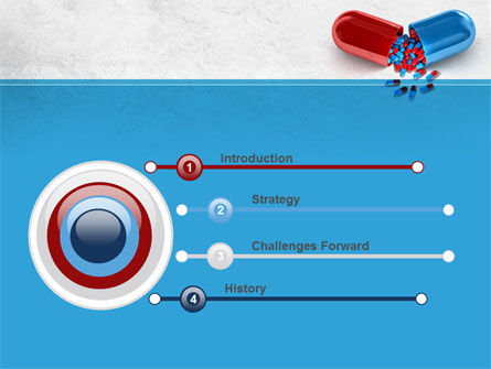 Red And Blue Pilule PowerPoint Template Slide 3