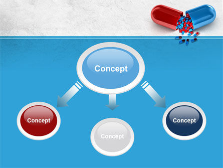 Red And Blue Pilule PowerPoint Template Slide 4
