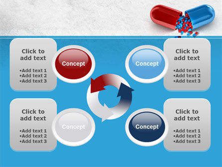 Red And Blue Pilule PowerPoint Template Slide 9