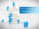 Business: Consolidation of Dollar PowerPoint Template #09068
