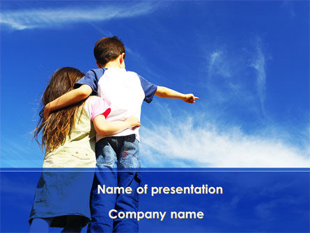 People: Sister And Brother PowerPoint Template #09072