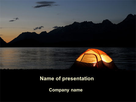 Quiet Lake PowerPoint Template, 09073, Health and Recreation — PoweredTemplate.com