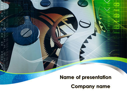 Watch Mechanism PowerPoint Template, 09074, Art & Entertainment — PoweredTemplate.com