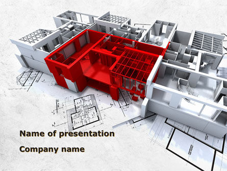 Construction: Multistage Building Remodeling PowerPoint Template #09075