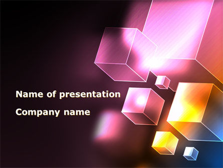 Abstract/Textures: Abstract Cubes PowerPoint Template #09076