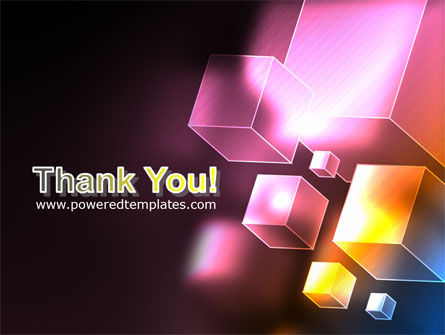 Abstract Cubes PowerPoint Template Slide 20