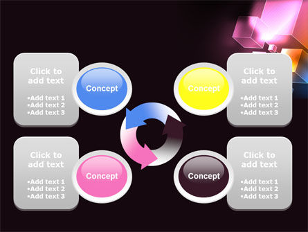 Abstract Cubes PowerPoint Template Slide 9
