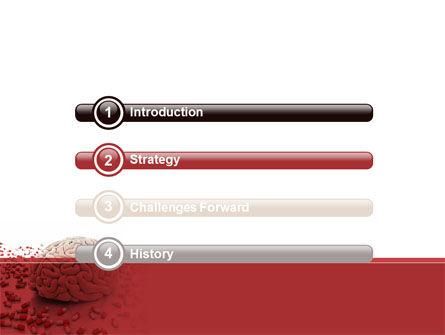 Human Brain Medicine PowerPoint Template, Slide 3, 09077, Medical — PoweredTemplate.com