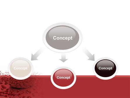 Human Brain Medicine PowerPoint Template, Slide 4, 09077, Medical — PoweredTemplate.com