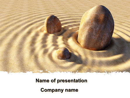 Stone Garden PowerPoint Template, 09078, Health and Recreation — PoweredTemplate.com