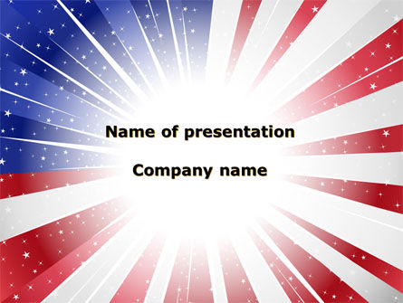 Flags/International: American Flag Stylized PowerPoint Template #09079
