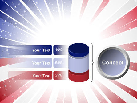 American Flag Stylized PowerPoint Template Slide 11