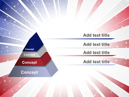 American Flag Stylized PowerPoint Template Slide 12