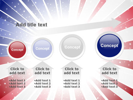 American Flag Stylized PowerPoint Template Slide 13