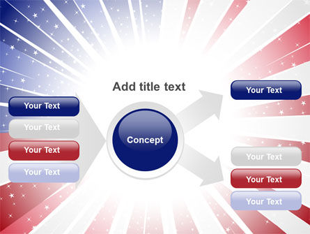 American Flag Stylized PowerPoint Template Slide 14