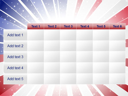 American Flag Stylized PowerPoint Template Slide 15