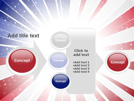 American Flag Stylized PowerPoint Template Slide 17